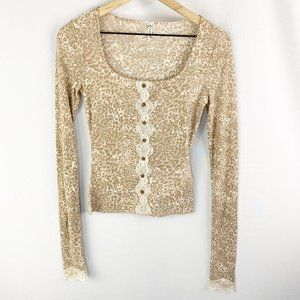 Free People She's All That Lace Trim Extra Small